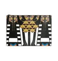 Givenchy Egyptian Art Deco Printed Clutch