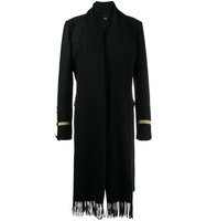 Givenchy Scarf Effect Military Coat