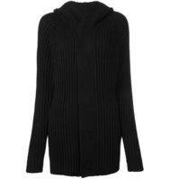 Helmut Lang Ribbed Hooded Cardigan