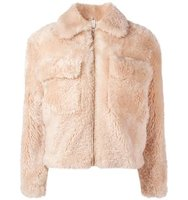 Helmut Lang Teddy Cropped Jacket