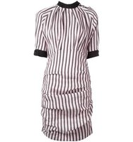 Isabel Marant Ruched Stripe Detail Dress