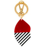 Lulu Guinness 5050 Stripe Lip Keyring