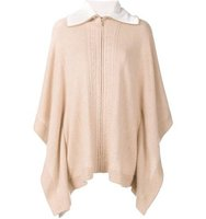 Magaschoni Collar Detail Poncho