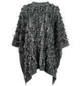 Mcq Alexander Mcqueen Frayed Edge Poncho