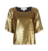 Michael Michael Kors Ruffled Sequin Embellished Top