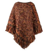 Missoni Round Neck Knit Poncho