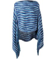 Missoni Striped Pattern Knit Poncho