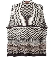 Missoni Wave Blue Knit Poncho