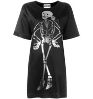 Moschino Biker Skeleton T Shirt Dress