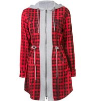 Moschino Checked Hoodie Mini Dress