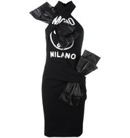 Moschino Criss Cross Halter Bow Dress