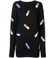Moschino Pill Print Sweater Dress
