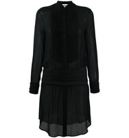 Moschino Pleated Bib Shirt Dress