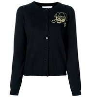 Moschino Skeleton Intarsia Cardigan