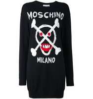 Moschino Skull Intarsia Dress