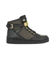 Moschino Stud Embellished Hi Top Sneakers