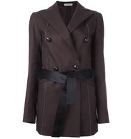 Nina Ricci Belted Double Breasted Blazer