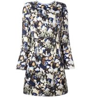 Nina Ricci Blurred Floral Print Dress
