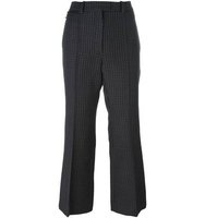 Nina Ricci Checked Houndstooth Flared Trousers