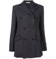 Nina Ricci Double Breasted Houndstooth Jacket