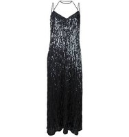 Nina Ricci Draped Sequin Dress