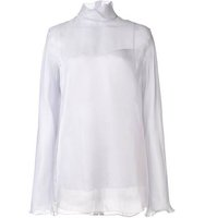 Nina Ricci High Collar Organza Blouse