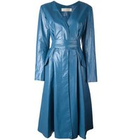 Nina Ricci Leather Belted Waist Dress