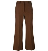 Nina Ricci Pleated Flared Trousers
