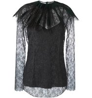 Nina Ricci Removable Collar Lace Blouse