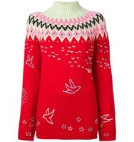Nina Ricci Roll Neck Zig Zag Sweater