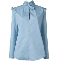 Nina Ricci Ruffled Shoulder Blouse
