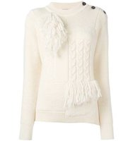 Nina Ricci Scarf Panel Knit Jumper