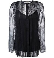 Nina Ricci Striped Lace Blouse