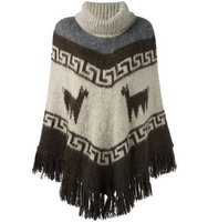 Parosh Patterned Poncho