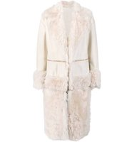 Prabal Gurung Fur Panel Coat