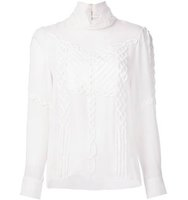 Prabal Gurung Mock Neck Blouse