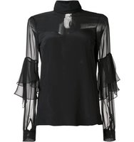 Prabal Gurung Sheer Panel Blouse