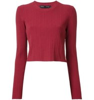 Proenza Schouler Cropped Ribbed Jumper