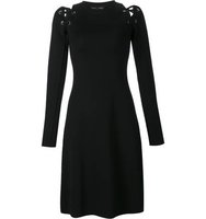 Proenza Schouler Lace Up Long Sleeve Dress