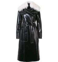 Proenza Schouler Shearling Collar Trench Coat