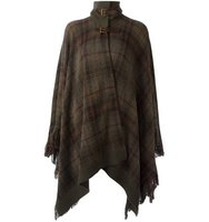 Ralph Lauren Checked Poncho