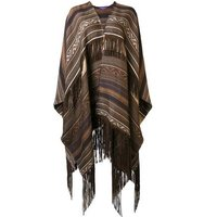 Ralph Lauren Collection Ethnic Motif Knit Poncho