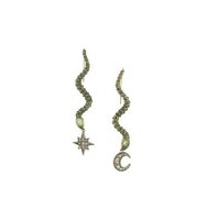 Roberto Cavalli Mismatched Serpent Earrings