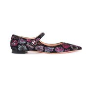 Rochas Floral Embroidered Ballerinas