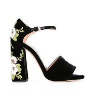 Rochas Floral Embroidery Sandals