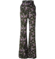 Rochas Floral Flared Trousers