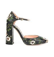 Rochas Floral Mary Jane Pumps