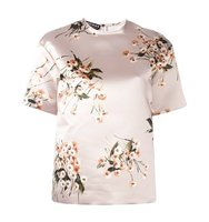 Rochas Floral Print Short Sleeve Blouse