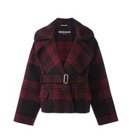 Rochas Plaid Belted Coat