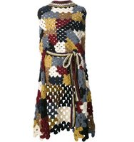 Rosetta Getty Patchwork Crochet Poncho